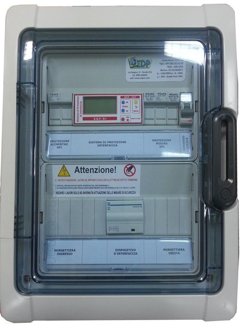 Schema Quadro Elettrico Per Fotovoltaico : Quadro elettrico interfaccia cei a kwp
